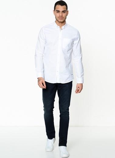 Lee Cooper Uzun Kollu Gömlek Beyaz